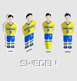 Sweden Soccer Team Sportswear Template