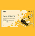 taxi service ordering web page template vector image vector image