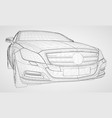 the model sports a premium sedan vector image vector image