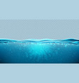 transparent underwater blue ocean background vector image vector image