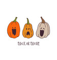 trick or treat poster vector image vector image