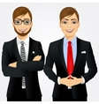 two young businessmen vector image