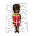 uk buckingham palace queen guard in uniform vector image vector image