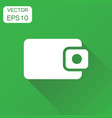 wallet icon business concept money purse vector image