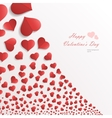 White background with hearts vector image