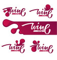 wine tasting red wine and lettering composition vector image vector image