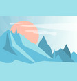 winter natural landscape scene of nature with vector image