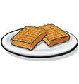 baked homemade waffles vector image