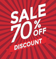 Sale 70 percent off discount vector image