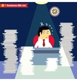 Businessman sleeping at the desk vector image