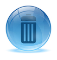 3D glass sphere battery icon vector image vector image