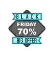 70 Black Friday sale icon cartoon style vector image vector image