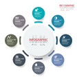 abstract element infographics 8 option design for vector image