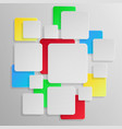abstract square background white and color vector image vector image