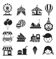 Amusement Park Mono Icons Set vector image