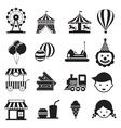 Amusement Park Mono Icons Set vector image vector image
