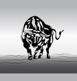 angry bull tattoo vector image vector image