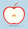 apple isolated on background vector image vector image