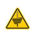 attention intestines yellow prohibitory vector image vector image