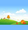 autumn rural scene vector image vector image