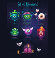 background set monsters vector image