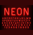 Bar or casino glowing sign elements red neon