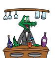 bartender crocodile vector image vector image