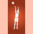 basketball player action cartoon sport graphic vector image vector image