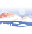 beautiful winter natural landscape scene of vector image vector image