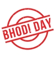 Bhodi Day rubber stamp vector image