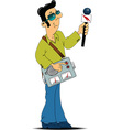 Broadcaster cartoon vector image