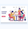 burger house website landing page design vector image