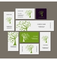 Business cards design green tree