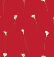 calla sparse pattern on red vector image vector image