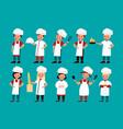 chef kids happy gourmet children cook delicious vector image vector image