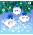 Christmas gift cards with bows vector image vector image