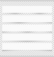 collection of white blank note papers with vector image vector image