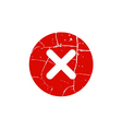 Cross red sign element vector image vector image