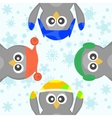 cute christmas penguins vector image vector image