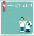 doctor and medicine background vector image vector image