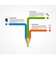 Education pencil option Infographics design
