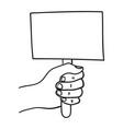 empty sign in hand vector image
