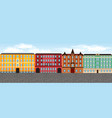 europe city street set 3 multi-colored vector image