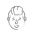 figure avatar man head with hairstyle design vector image vector image