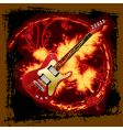 fire electric guitar vector image vector image