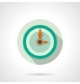 Flat color wall clock icon vector image vector image