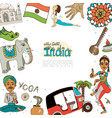 flat travel to india template vector image vector image