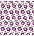 FlowersPatternBackground01 vector image vector image