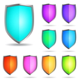 glossy shields vector image vector image