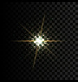 golden glow light effect star burst vector image